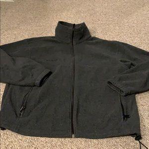 Columbia fleece zip up, large, grey